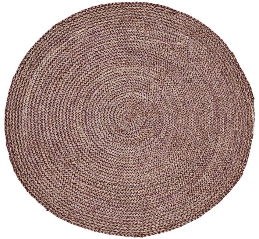 På billedet ser du variationen Gulvtæppe, Structure Round fra brandet House Doctor i en størrelse D: 100 cm. i farven Henna