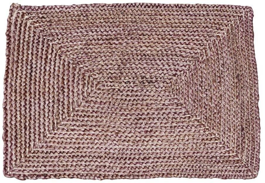 På billedet ser du variationen Gulvtæppe, Structure Square fra brandet House Doctor i en størrelse 50 x 70 cm. i farven Henna