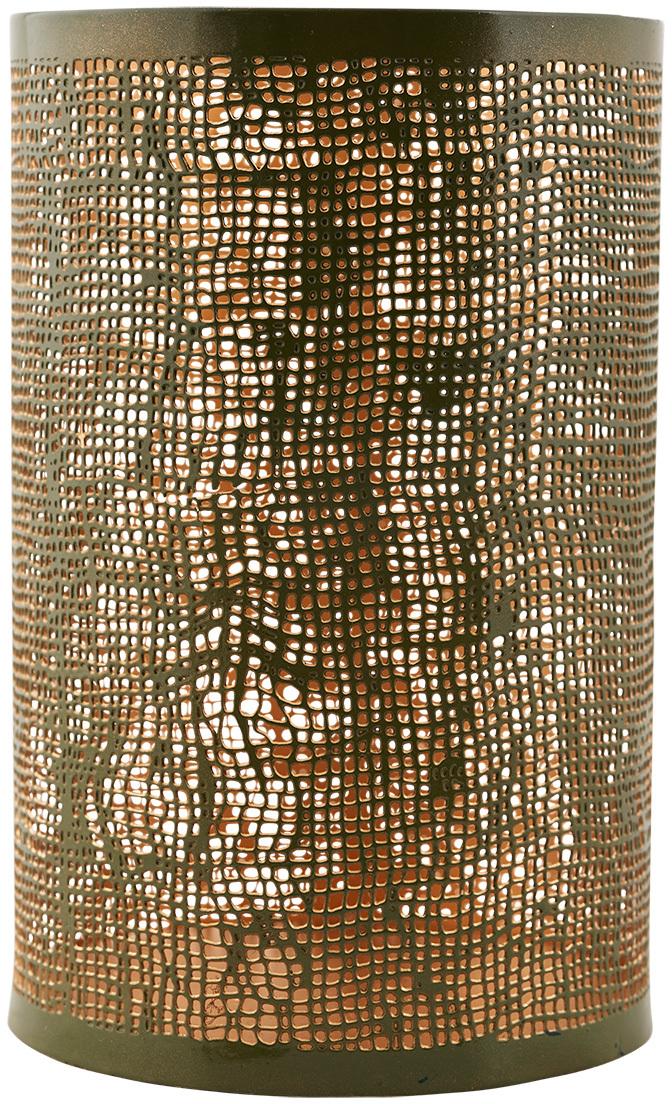 På billedet ser du variationen fra brandet House Doctor i en størrelse D: 12,5 cm. x H: 19,5 cm. i farven Army/Guld