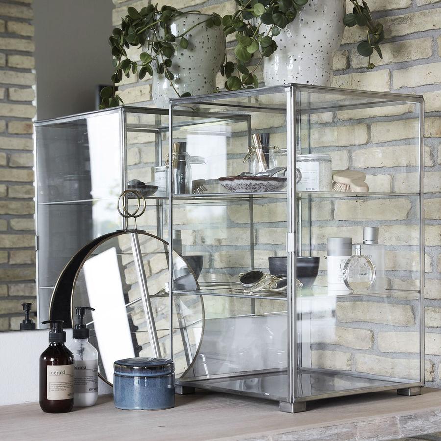Kategoribillede til displaybokse, glasmontrer eller udstillingsbokse