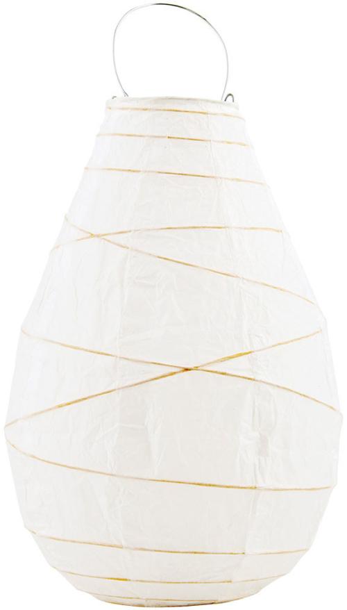 På billedet ser du variationen Drop, Lanterne fra brandet House Doctor i en størrelse D: 20 cm. x H: 30 cm. i farven Hvid