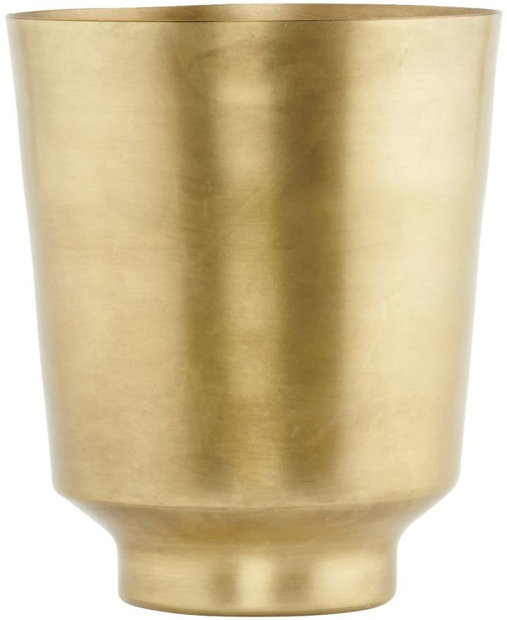 På billedet ser du variationen fra brandet House Doctor i en størrelse D: 14,5 cm. x H: 18 cm. i farven Messing