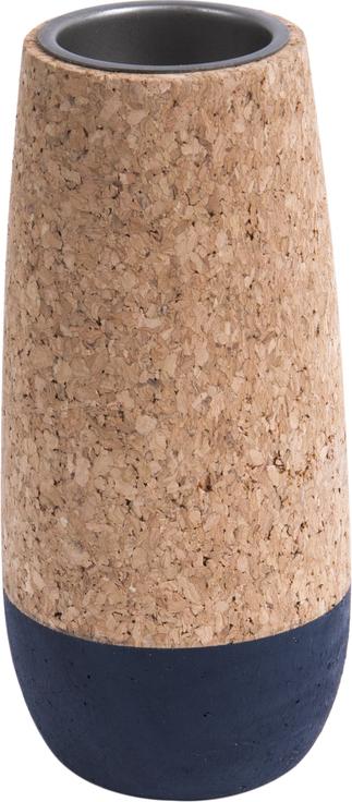 På billedet ser du et stemningsbillede (#2) fra Fyrfadsstage, Set cone fra brandet Present Time i en størrelse D. 7cm, H. 9cm, 12cm & 15cm i farven Kork|Blå
