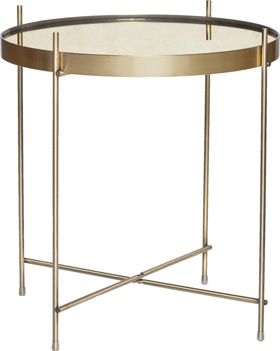 På billedet ser du variationen Bord, Njord fra brandet Hübsch i en størrelse Ø: 43 cm. H: 45 cm. i farven Guld