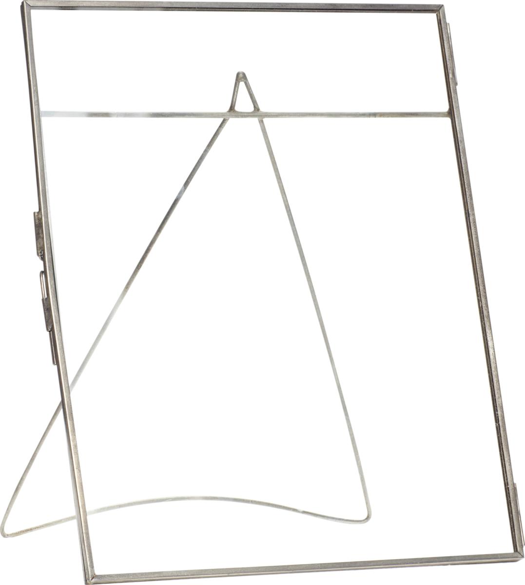 På billedet ser du variationen Fotoramme, m/fod, u/foto, Ninian fra brandet Hübsch i en størrelse H: 27 cm. B: 22 cm. i farven Sort