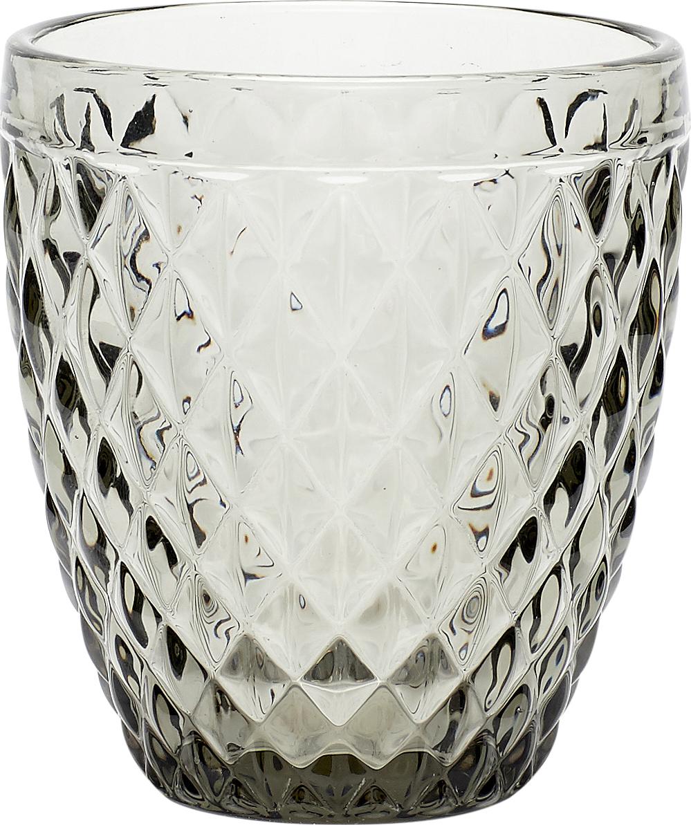 På billedet ser du variationen Fyrfadsglas m/mønster fra brandet Hübsch i en størrelse Ø: 9 cm. H: 10 cm. i farven Smoked