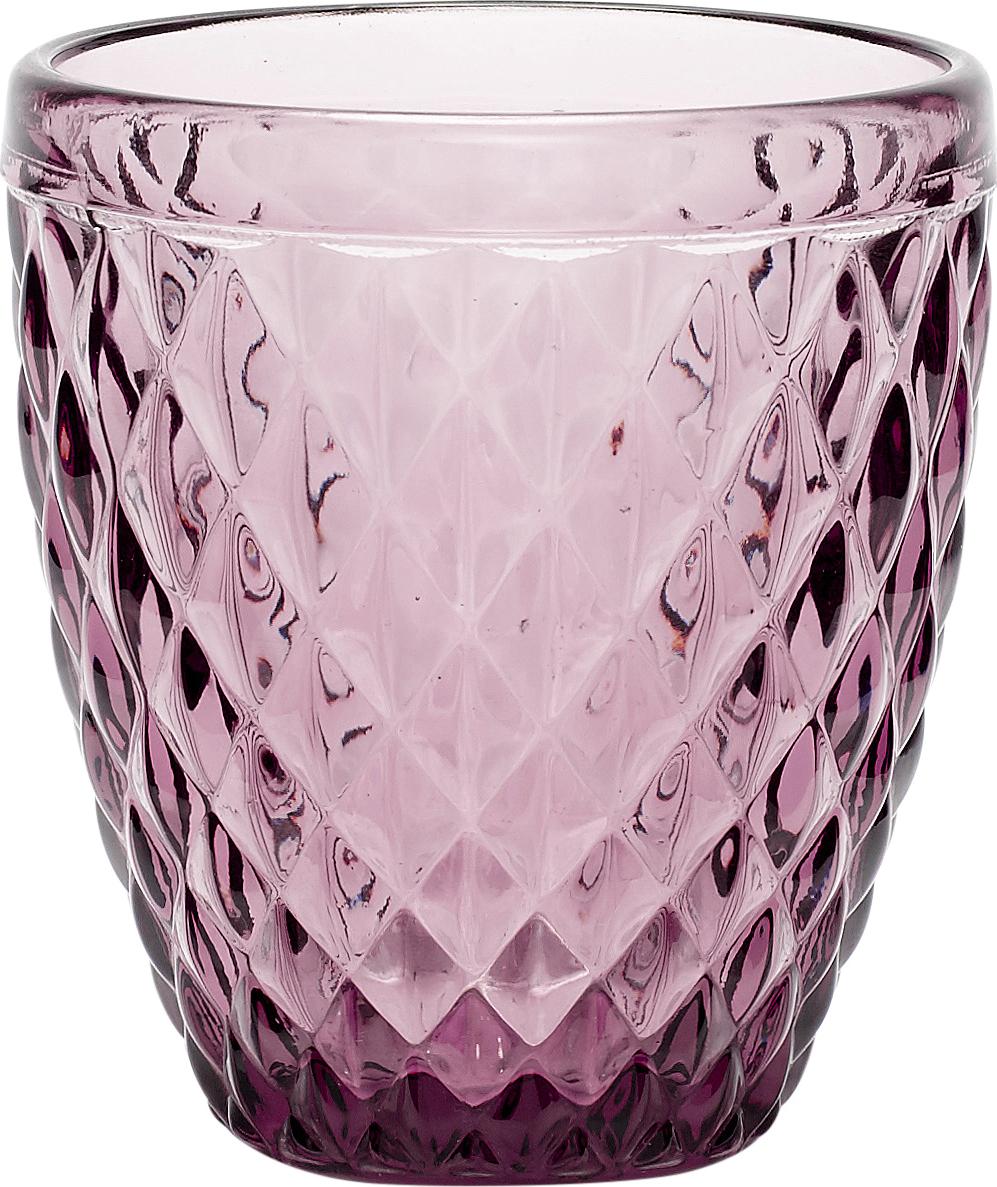 På billedet ser du variationen Fyrfadsglas m/mønster fra brandet Hübsch i en størrelse Ø: 9 cm. H: 10 cm. i farven Lilla