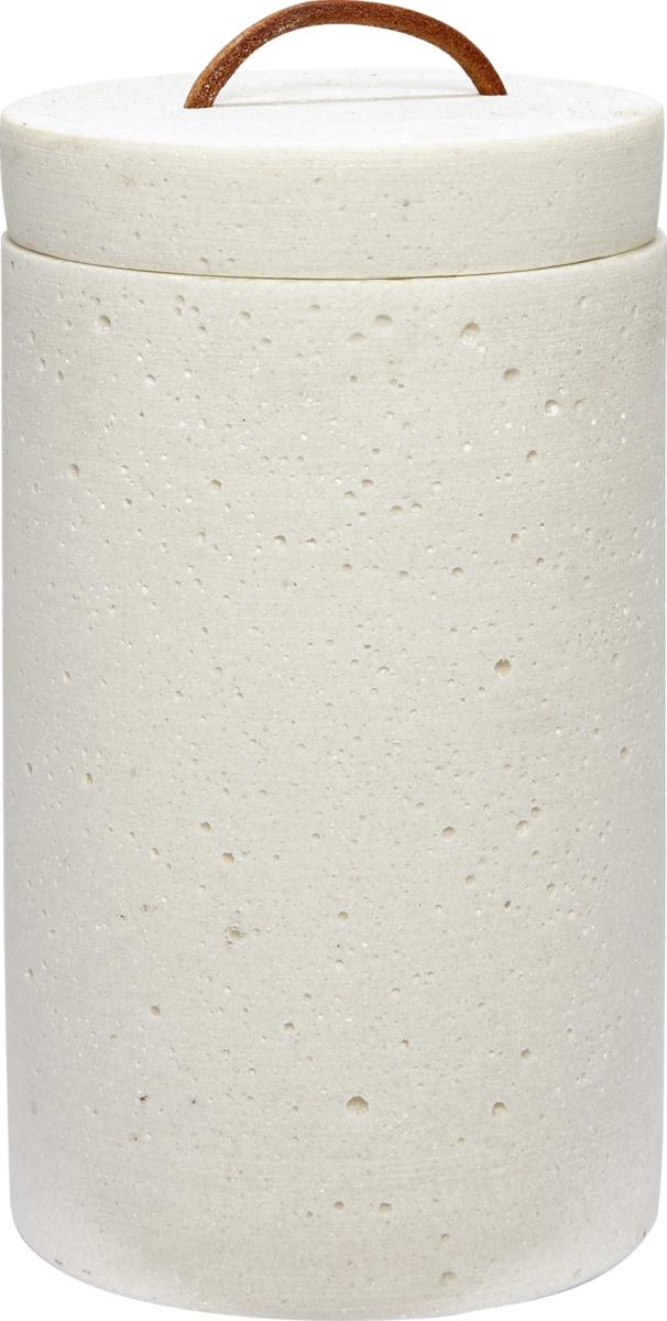 På billedet ser du variationen fra brandet Hübsch i en størrelse Ø: 10 cm. H: 17 cm. i farven Hvid