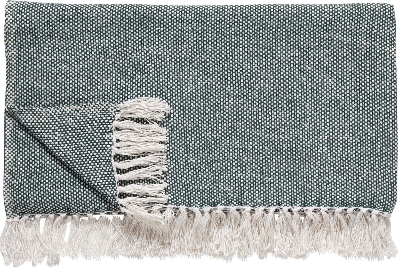 På billedet ser du variationen Plaid, Wigberht fra brandet Hübsch i en størrelse B: 140 cm. L: 200 cm. i farven Off-white/Grøn