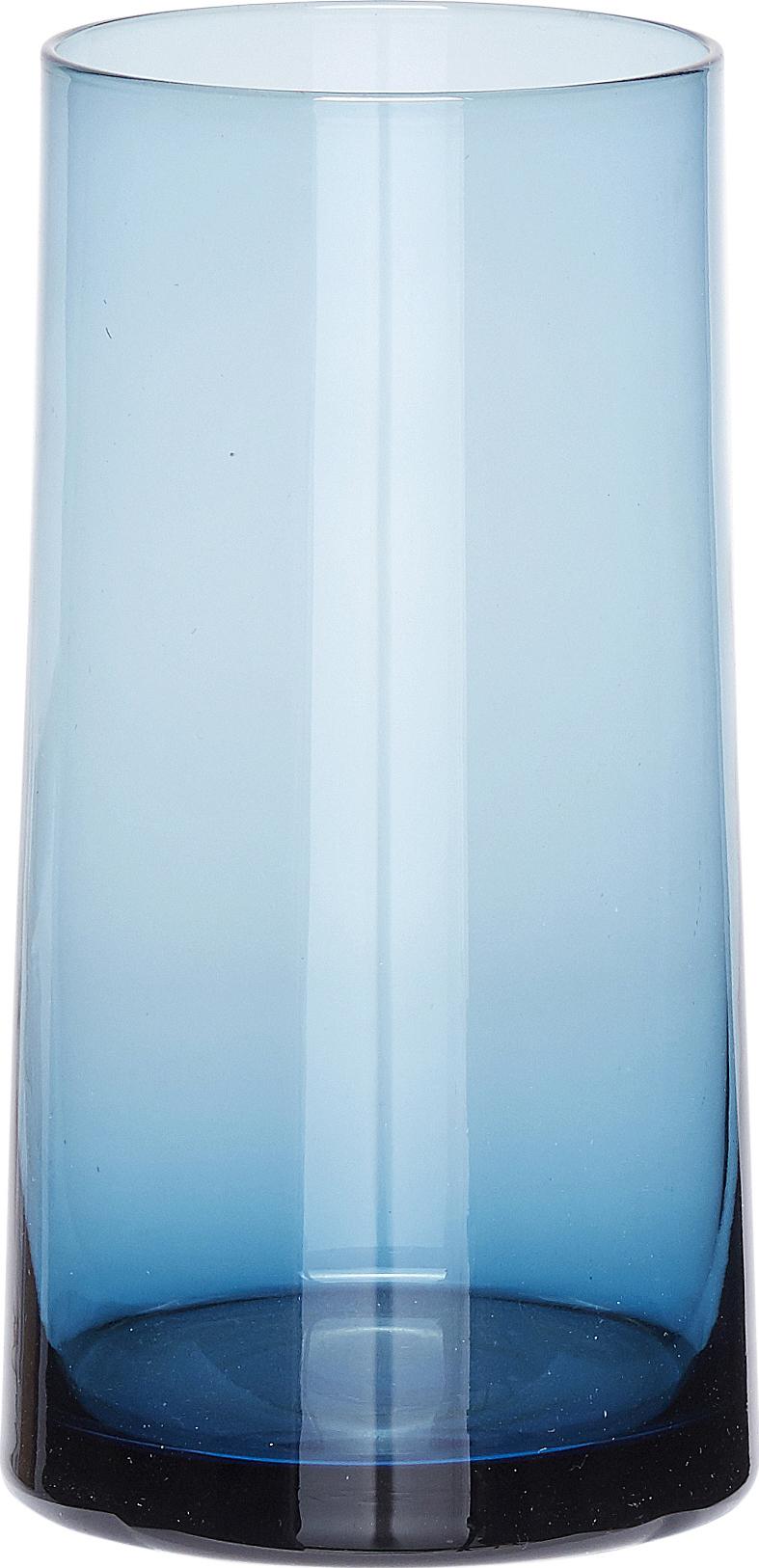 På billedet ser du variationen Vase, Ming fra brandet Hübsch i en størrelse Ø: 7 cm. H: 16 cm. i farven Blå