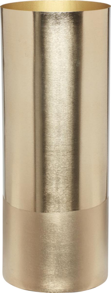 På billedet ser du variationen Vase, m/messing bund, Xia fra brandet Hübsch i en størrelse Ø: 8 cm. H: 20 cm. i farven Messing