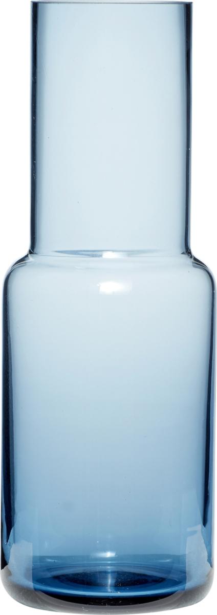 På billedet ser du variationen Vase, Shun fra brandet Hübsch i en størrelse Ø: 9 cm. H: 25 cm. i farven Blå