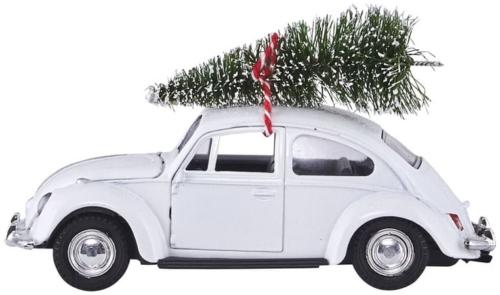 På billedet ser du variationen Dekoration, Xmas car fra brandet House Doctor i en størrelse L: 12,5 cm. i farven Hvid