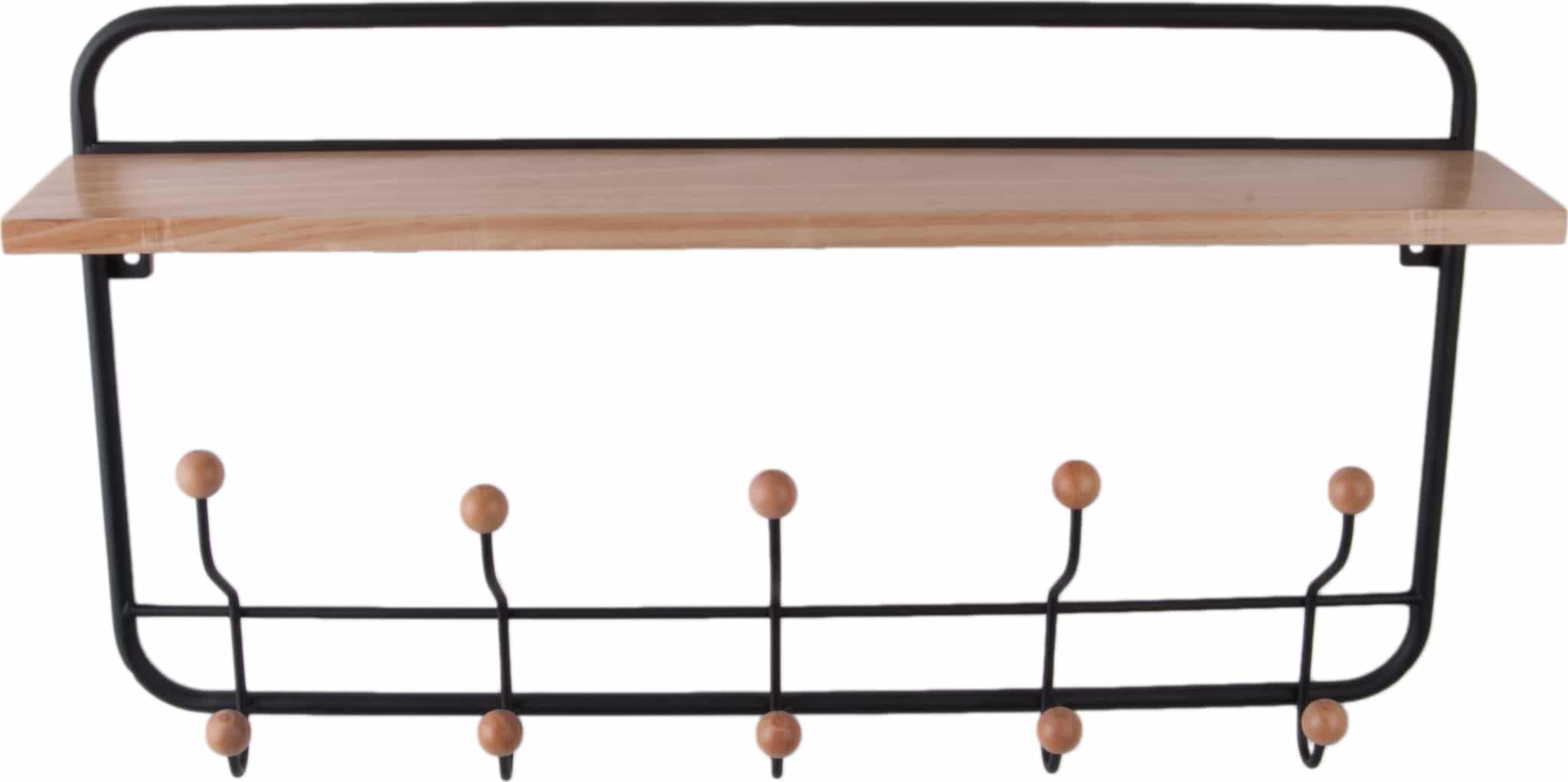 På billedet ser du variationen Knagerække, Coat rack fra brandet Present Time i en størrelse H: 36 cm. B: 14 cm. L: 56 cm. i farven Sort/Natur