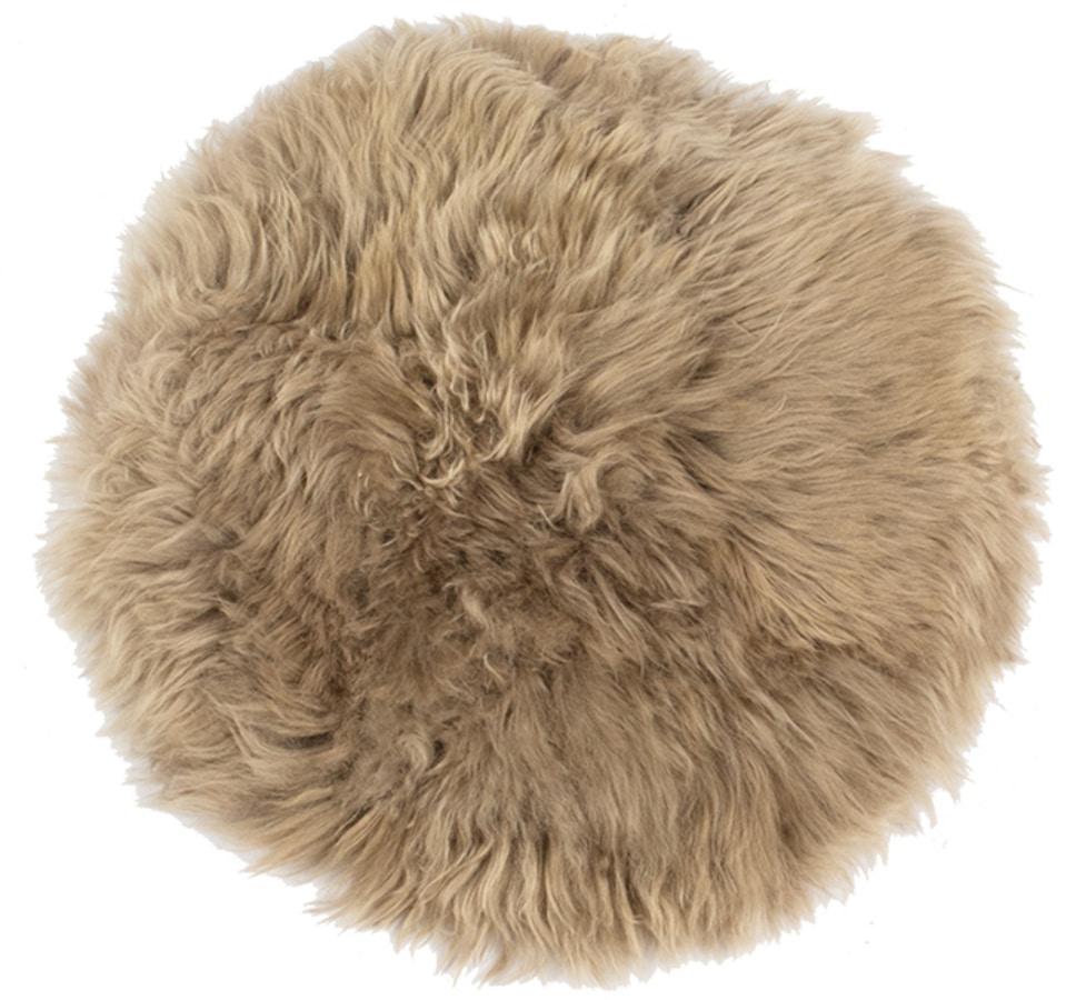 På billedet ser du variationen Sædeskind, New Zealand round fra brandet Preform i en størrelse Ø: 35 cm. i farven Antikgrå