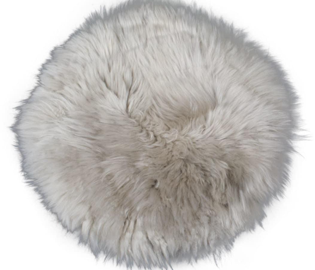 På billedet ser du variationen Sædeskind, New Zealand round fra brandet Preform i en størrelse Ø: 35 cm. i farven Lysegrå