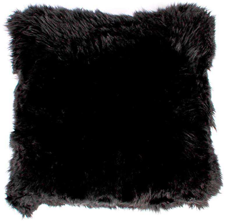 På billedet ser du variationen Lammeskindspude, New Zealand fra brandet Preform i en størrelse H: 15 cm. B: 50 cm. L: 50 cm. i farven Sort