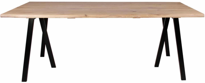 På billedet ser du variationen Plankebord, Curve wave, 3 feet base fra brandet Preform i en størrelse H: 74 cm. B: 95 cm. L: 200 cm. i farven Lys Natur/Sort
