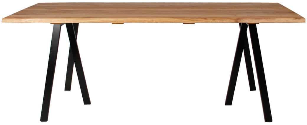 På billedet ser du variationen Plankebord, Curve wave, 3 feet base fra brandet Preform i en størrelse H: 74 cm. B: 95 cm. L: 200 cm. i farven Natur/Sort
