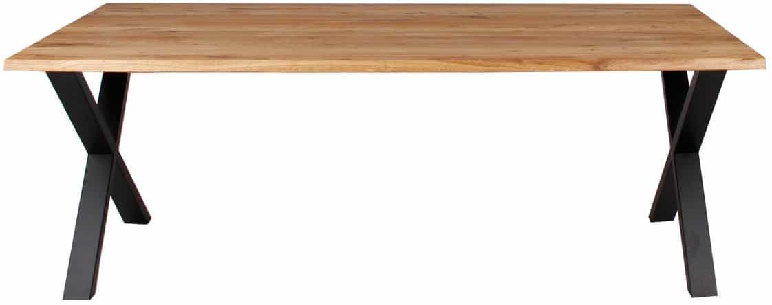 På billedet ser du variationen Plankebord, Curve wave, X base fra brandet Preform i en størrelse H: 74 cm. B: 95 cm. L: 200 cm. i farven Natur/Sort