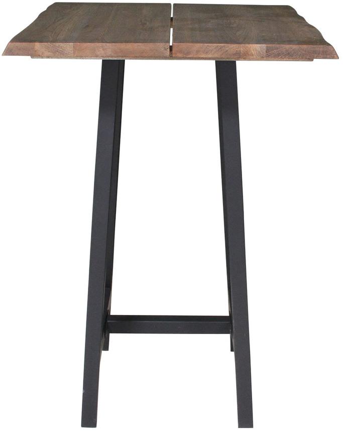 På billedet ser du variationen Barbord, Curve plade, Bar base fra brandet Preform i en størrelse H: 103 cm. B: 80 cm. L: 80 cm. i farven Mørk Natur/Sort