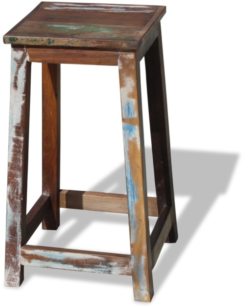 På billedet ser du variationen Barstol i genbrugstræ, Sophie fra brandet OBUZI i en størrelse H: 70 cm. B: 40 cm. L: 40 cm. i farven Multi