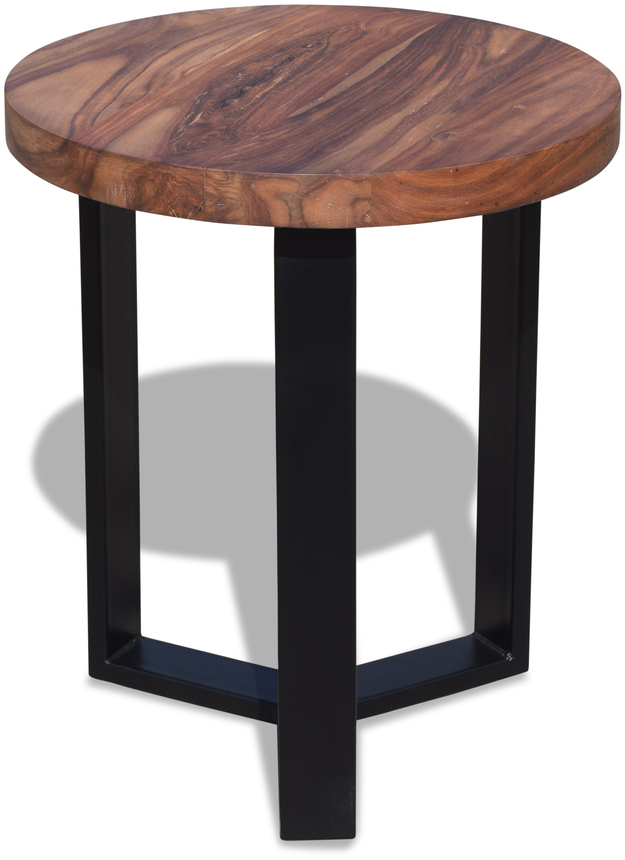 På billedet ser du variationen Bord, HayFay Round fra brandet OBUZI i en størrelse D: 60 cm. H: 70 cm. i farven Mørk Natur/Sort