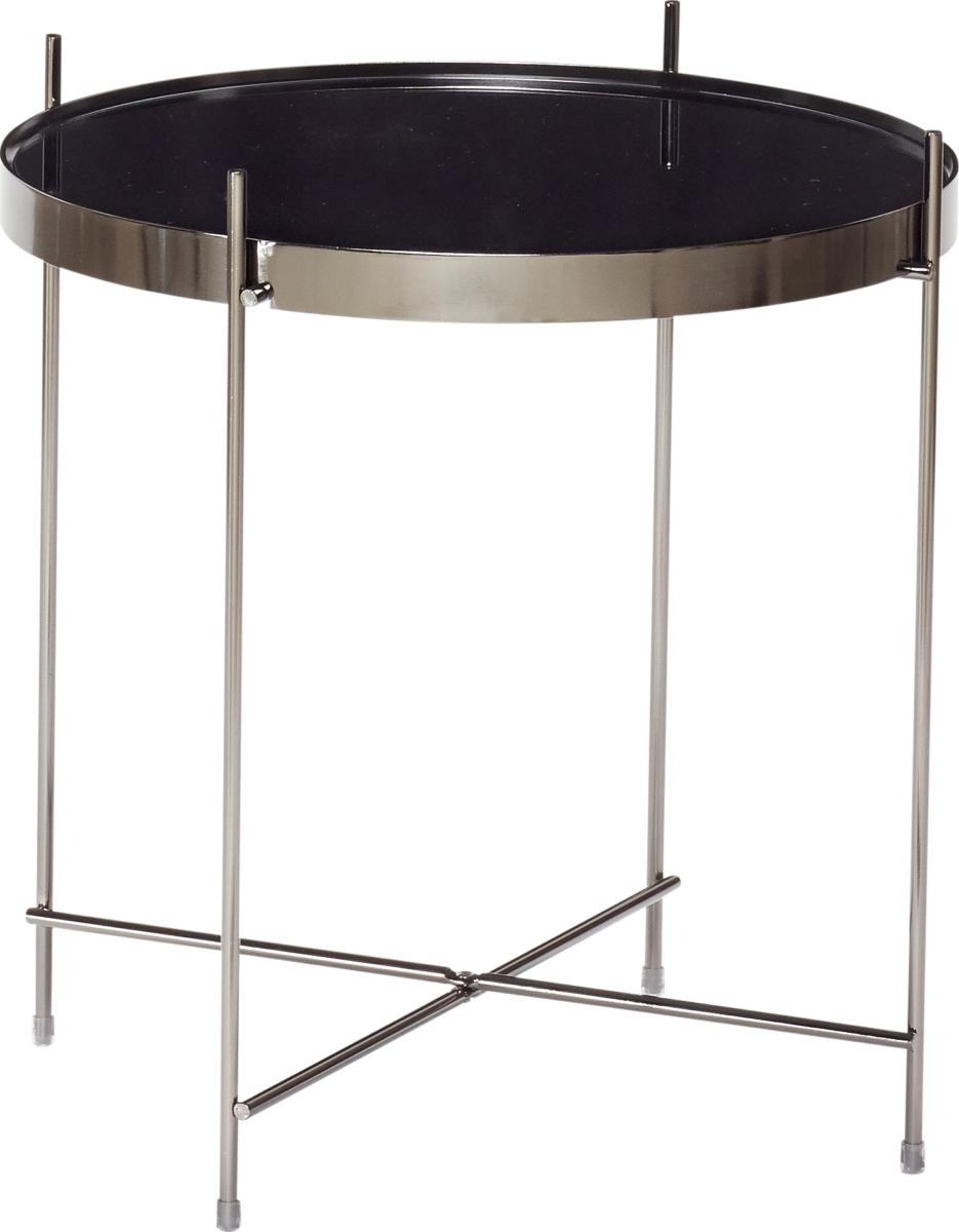 På billedet ser du variationen Bord, Njord fra brandet Hübsch i en størrelse Ø: 43 cm. H: 45 cm. i farven Metal