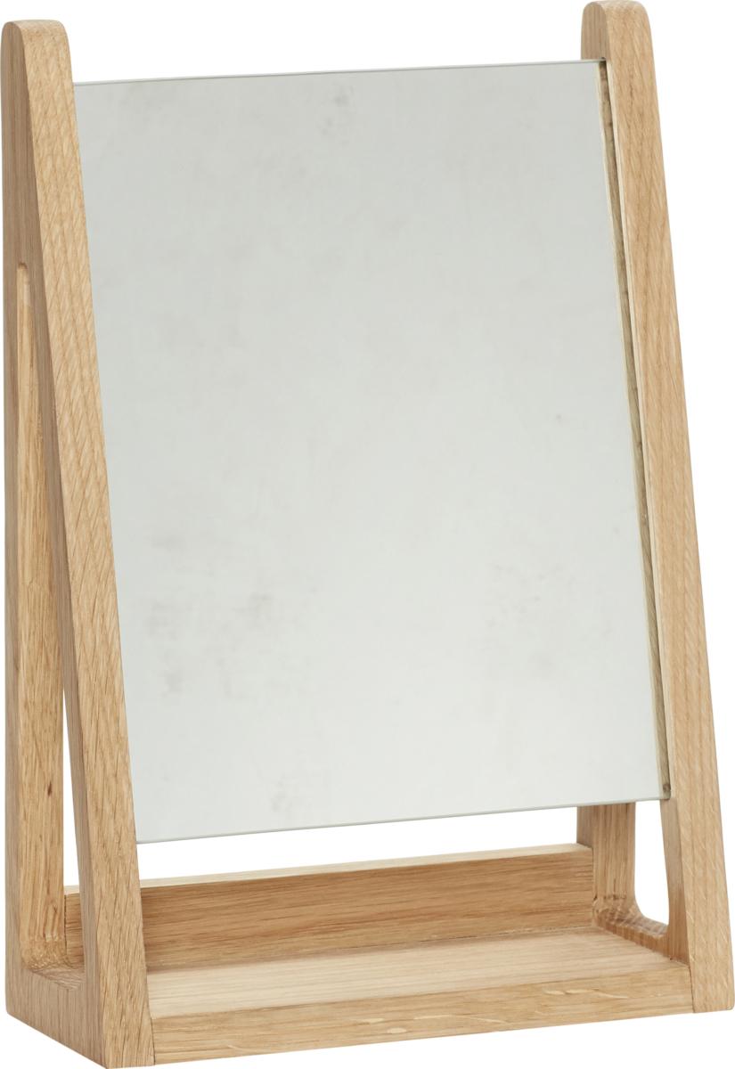 På billedet ser du variationen Bordspejl, Square fra brandet Hübsch i en størrelse H: 32 cm. B: 22 cm. L: 9 cm. i farven Natur