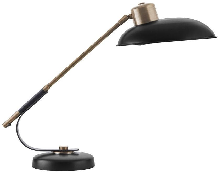 På billedet ser du variationen Art Deco, Bordlampe fra brandet House Doctor i en størrelse D: 28,5 cm. x H: 50 cm. i farven Sort/Messing