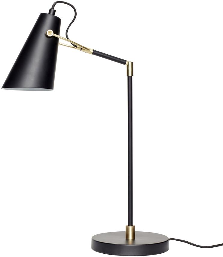 På billedet ser du variationen Bordlampe, Ex fra brandet Hübsch i en størrelse D: 18 cm. H: 54 cm. i farven Sort/Messing