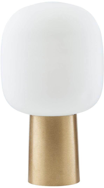 På billedet ser du variationen Bordlampe, Note fra brandet House Doctor i en størrelse D: 28 cm. H: 52 cm. i farven Hvid/Messing
