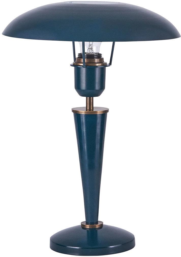 På billedet ser du variationen Opal, Bordlampe, Petroleum fra brandet House Doctor i en størrelse H: 34 cm. i farven Mørk Petroleum