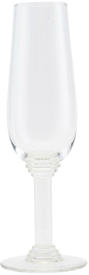 På billedet ser du variationen Nouveau, Champagne glas fra brandet House Doctor i en størrelse D: 7.3 cm. x H: 22 cm. i farven Klar