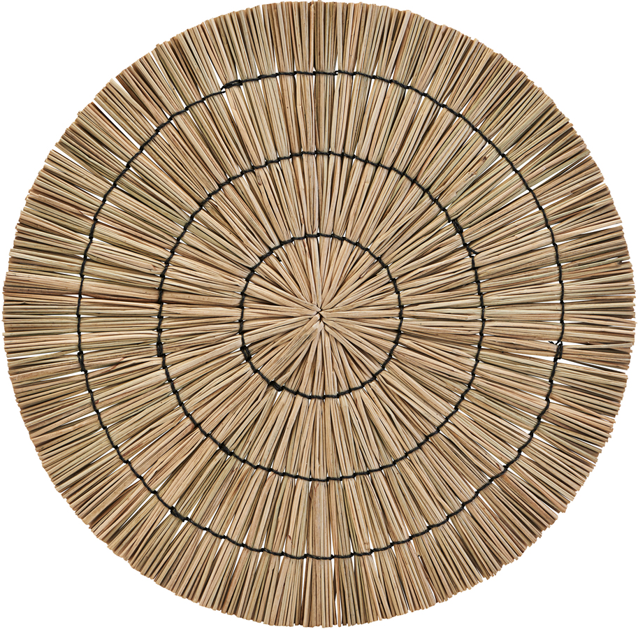 På billedet ser du variationen Dækkeserviet, Mendong, Sæt af 4 stk fra brandet House Doctor i en størrelse D: 38 cm. i farven Natur