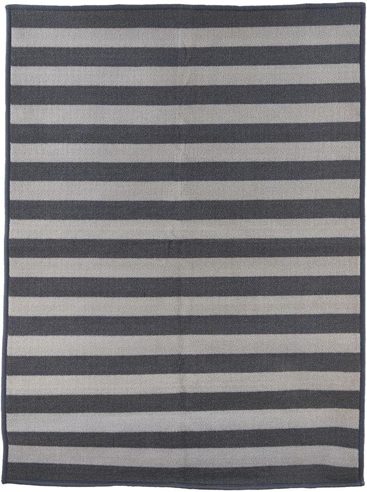 På billedet ser du variationen fra brandet House Doctor i en størrelse 90 x 120 cm. i farven Grå/Lysegrå