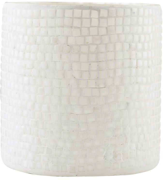 På billedet ser du variationen Fyrfadsstage, Bricks fra brandet House Doctor i en størrelse D: 10 cm. x H: 10 cm. i farven Hvid