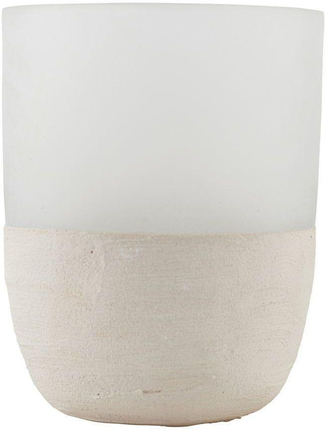På billedet ser du variationen Fyrfadsstage, Cozy fra brandet House Doctor i en størrelse D: 9,5 cm. x H: 13 cm. i farven Hvid