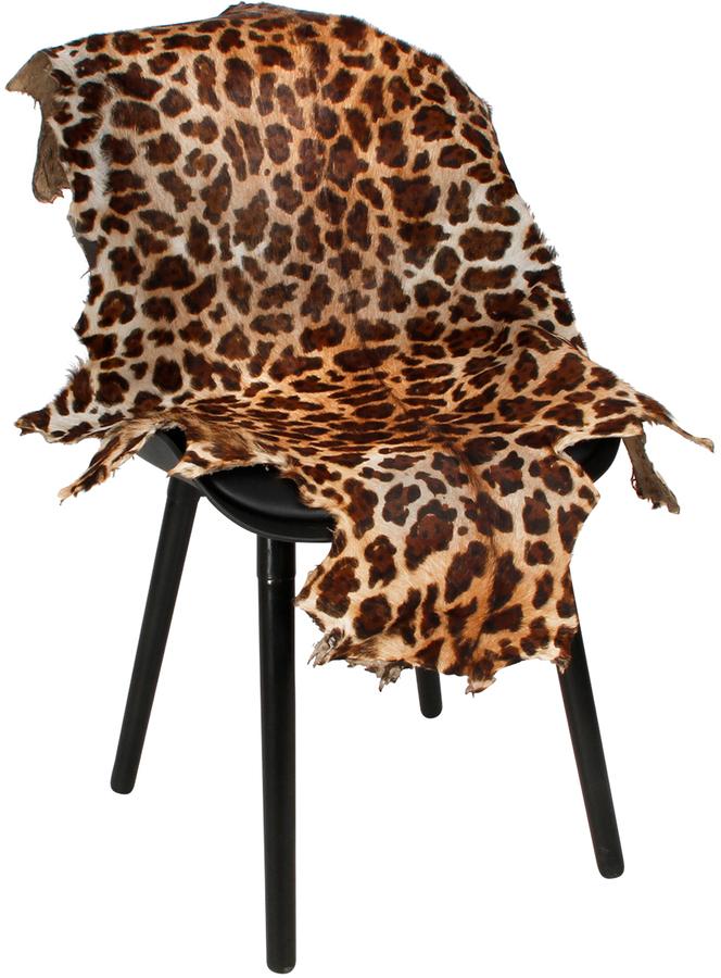På billedet ser du variationen Gedeskind, Leopard print fra brandet Preform i en størrelse B: 60 cm. L: 100 cm. i farven Sort/Orange