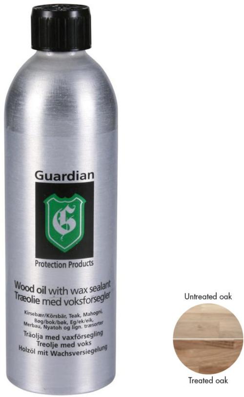 På billedet ser du variationen Guardian Træolie med voksforsegler, 500 ml fra brandet Guardian Protection i en størrelse 500 ml. i farven Natur