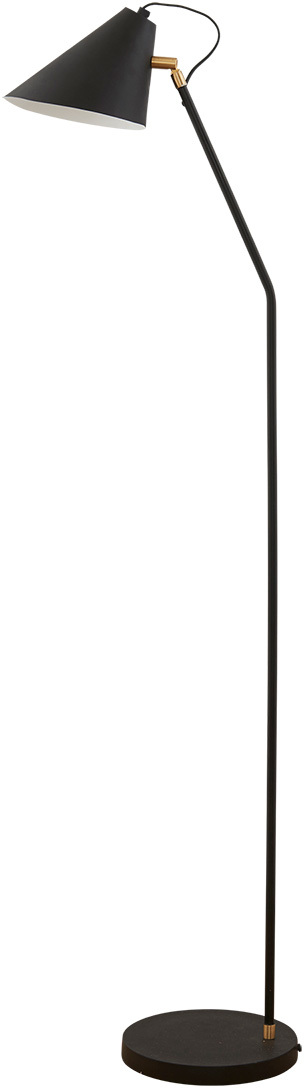 På billedet ser du Gulvlampe, Club fra brandet House Doctor i en størrelse D: 18-20 cm. x H: 130 cm. i farven Sort