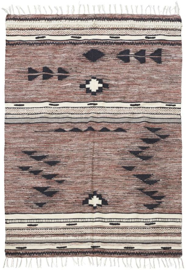 På billedet ser du variationen Gulvtæppe, Tribe fra brandet House Doctor i en størrelse B: 140 cm. L: 200 cm. i farven Brun