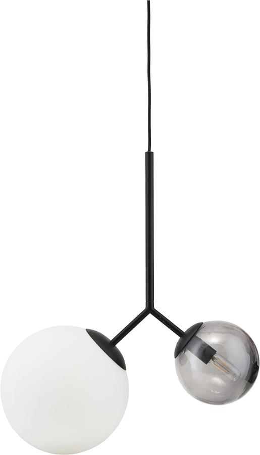 På billedet ser du variationen Hængelampe, Twice fra brandet House Doctor i en størrelse L: 70 cm. i farven Sort