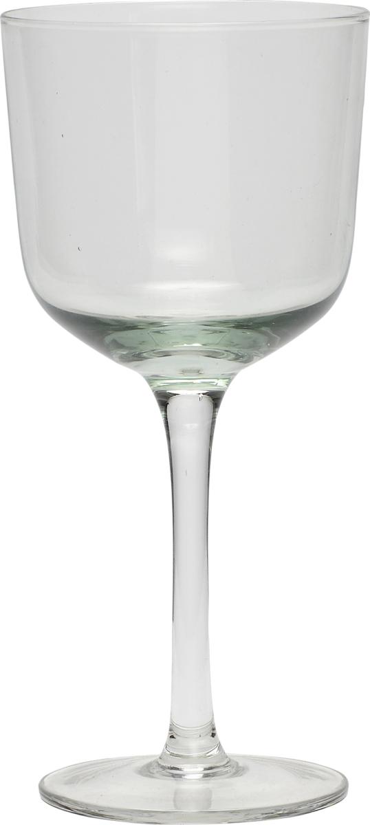 På billedet ser du variationen Hvidvinsglas, Caalistus fra brandet Hübsch i en størrelse Ø: 8 cm. H: 18 cm. i farven Klar