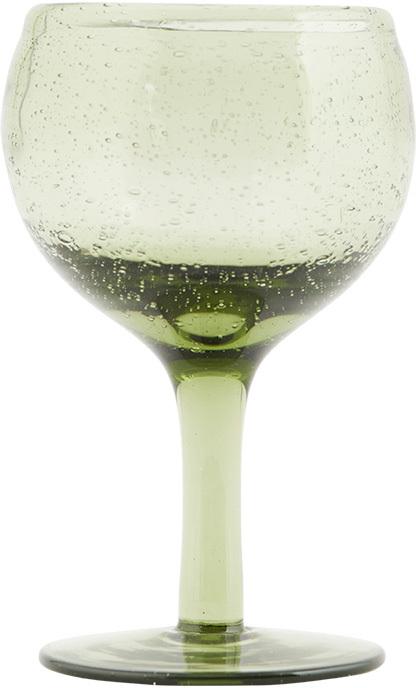 På billedet ser du variationen Universal, Hvidvinsglas fra brandet House Doctor i en størrelse D: 8 cm. x H: 13,5 cm. i farven Grøn