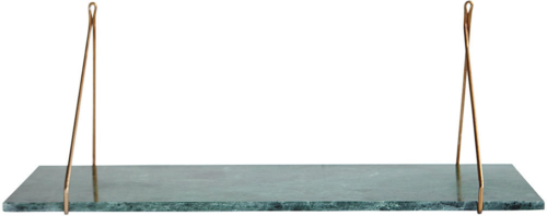 På billedet ser du variationen Hylde, Marble fra brandet House Doctor i en størrelse 24 x 70 cm. i farven Grøn