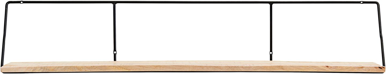 På billedet ser du variationen Hylde, Wired fra brandet House Doctor i en størrelse H: 24,4 cm. B: 24 cm. L: 130 cm. i farven Sort/Natur