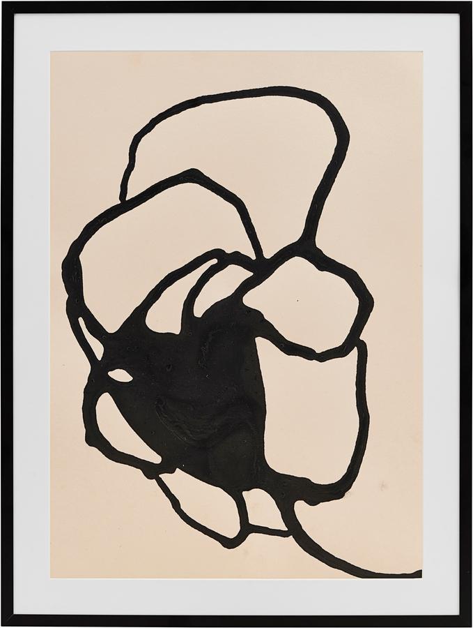 På billedet ser du variationen Illustration m. ramme, Rovschanck 2 fra brandet House Doctor i en størrelse B: 32 cm. L: 44 cm. i farven Sort/Hvid