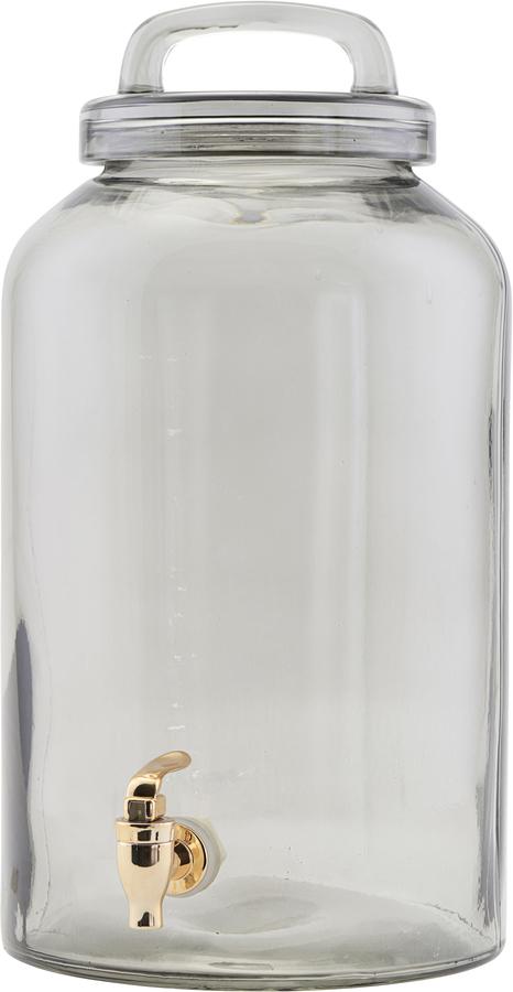 På billedet ser du variationen Juice/lemonade beholder, Ice Cold fra brandet House Doctor i en størrelse D: 20 cm. H: 30 cm. i farven Grå