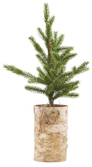 På billedet ser du variationen Juletræ med lys træ bund fra brandet House Doctor i en størrelse H: 44 cm. i farven Natur/Grøn